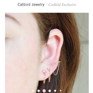 Catbird chained to my heart earring